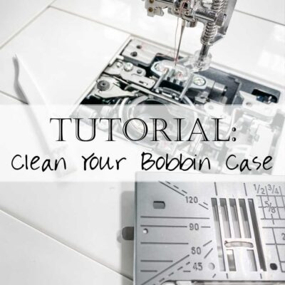 Wondering how to clean your bobbin case? Here are two simple steps to cleaning your bobbin case and restoring it to like new!