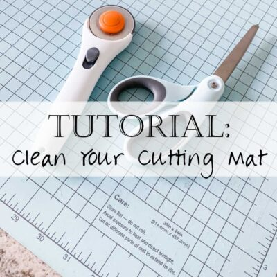 How to Clean Your Rotary Cutting Mat