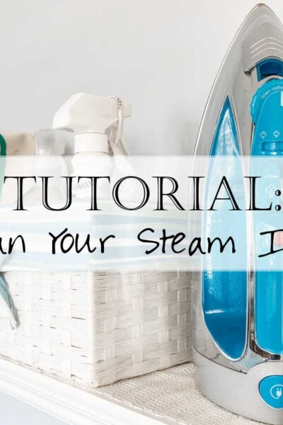 It's time to spring clean - let's start with how to clean your steam iron! From the metal plate to the water reserve, we'll review in a detailed step-by-step video and photo exactly what you need to do to have your iron functioning like new again!