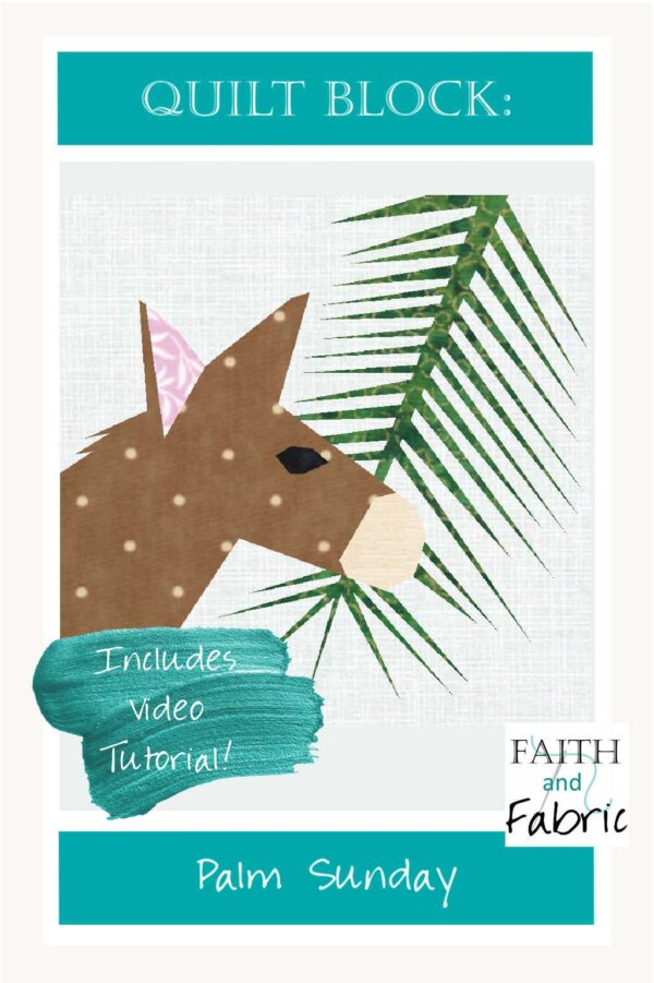 Create this Palm Sunday quilt block from our Easter pattern; it's the perfect base for a banner for your parish or a pillow for your home! You'll appreciate the exact lines that only paper piecing can provide as you recreate key images from this iconic day.