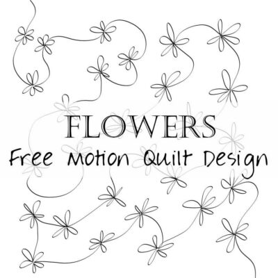 Free Motion Quilting Design: Abundance of Flowers