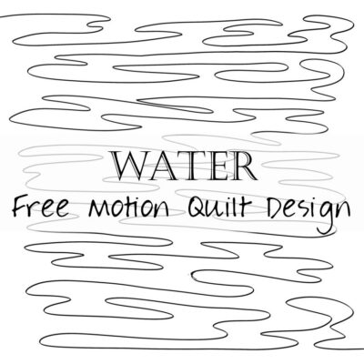 Free Motion Quilting Design: Water