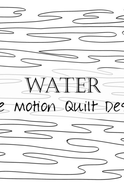 Learn how to free motion quilt water with this step by step tutorial and video!