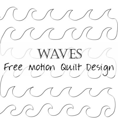 Free Motion Quilting Design: Waves