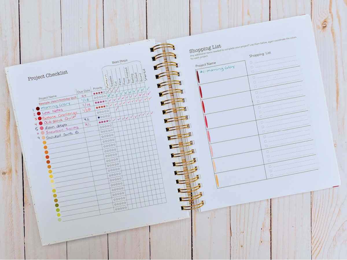 Do you have fabrics, patterns, and quilt notes all over your sewing studio? Let's get them organized with Plan to Quilt, the undated project planner designed for quilters!