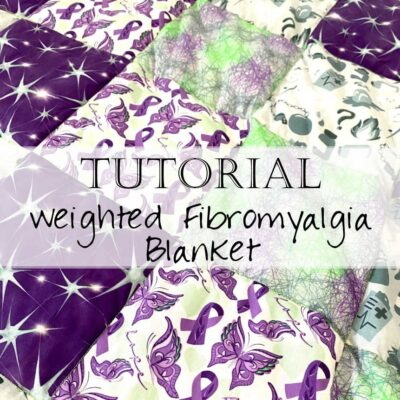 How to Make a Weighted Blanket / Sew a Weighted Quilt (fibromyalgia)