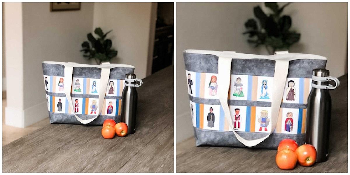 Snowball Saints Fabric Tote Bag