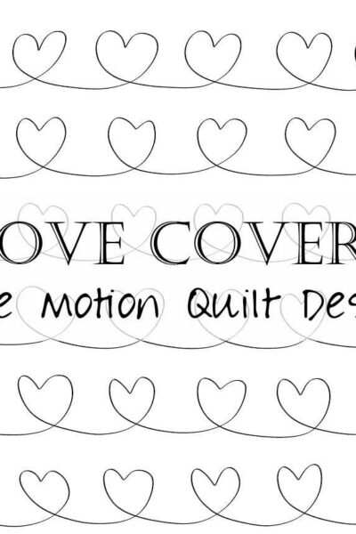 Learn to free motion quilt chain hearts! You'll learn how to make chain hearts, varying their size and shape, with key tips and video tutorial.