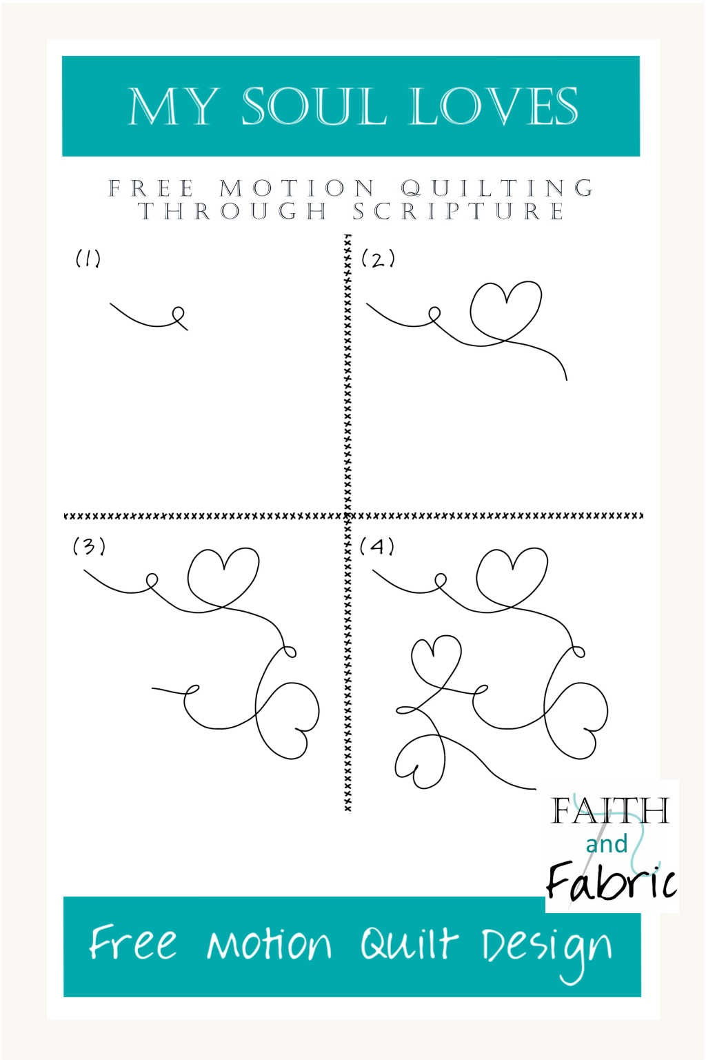 Learn to free motion quilt chain hearts! You'll learn how to sew meandering hearts, varying their size and shape, with key tips and video tutorial.