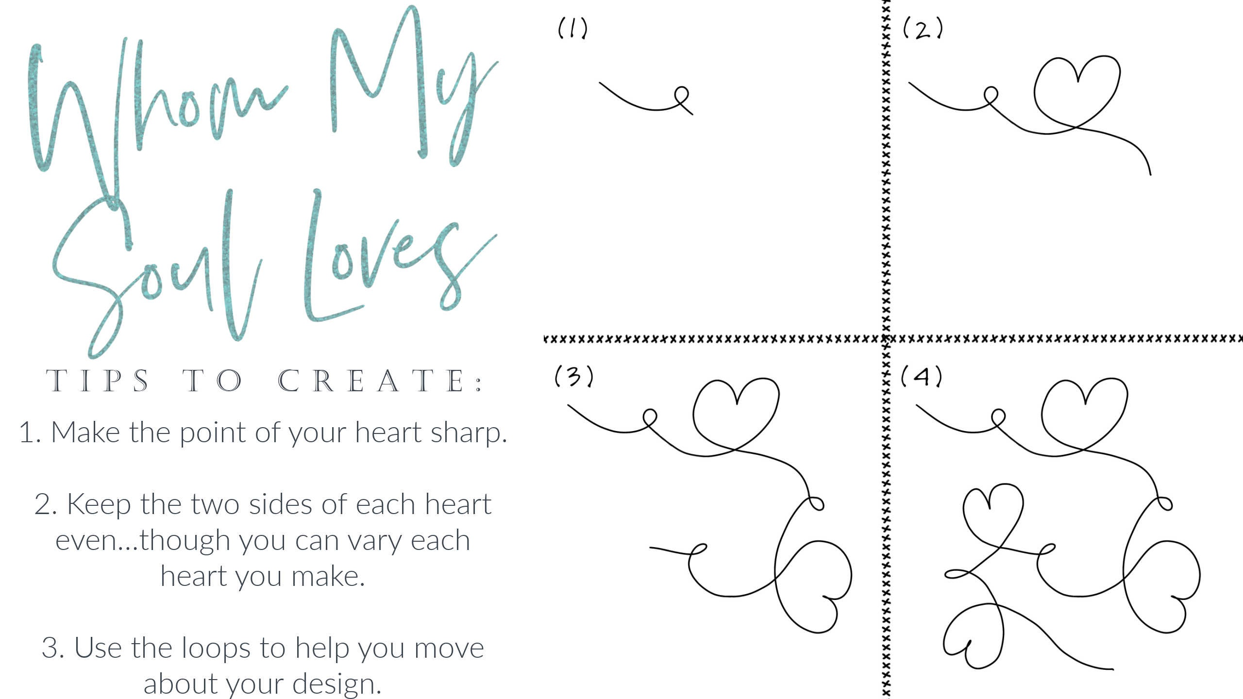 How to free motion quilt hearts