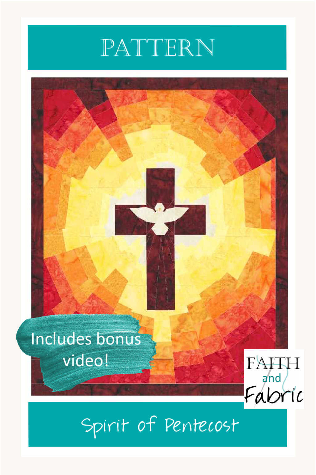 Celebrate the beauty and power behind Pentecost with this stunning Spirit of Pentecost quilt!