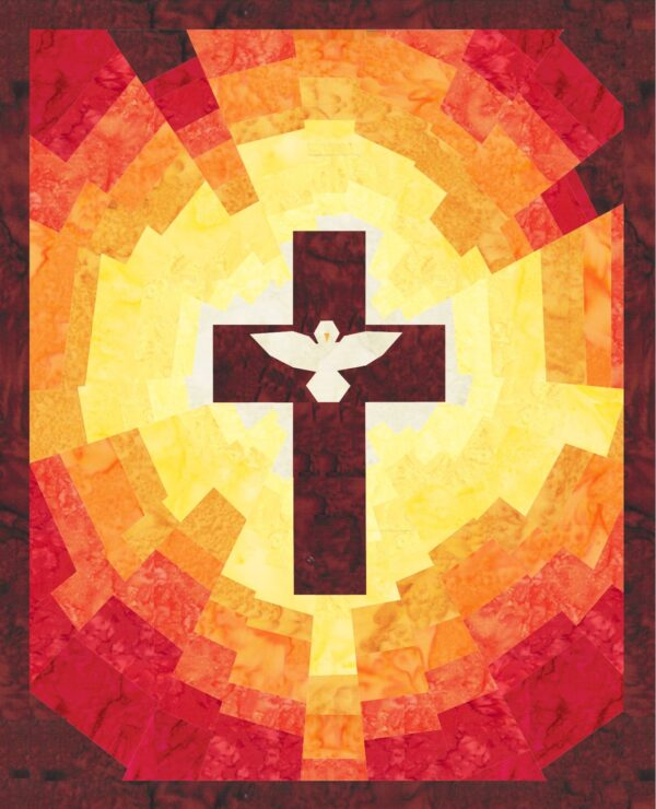 Celebrate the spirit of Pentecost with this Pentecost quilt pattern!