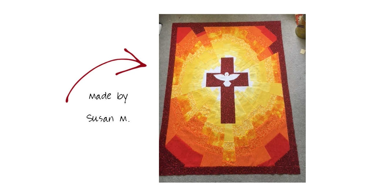 Pentecost Quilt Pattern Made by Susan