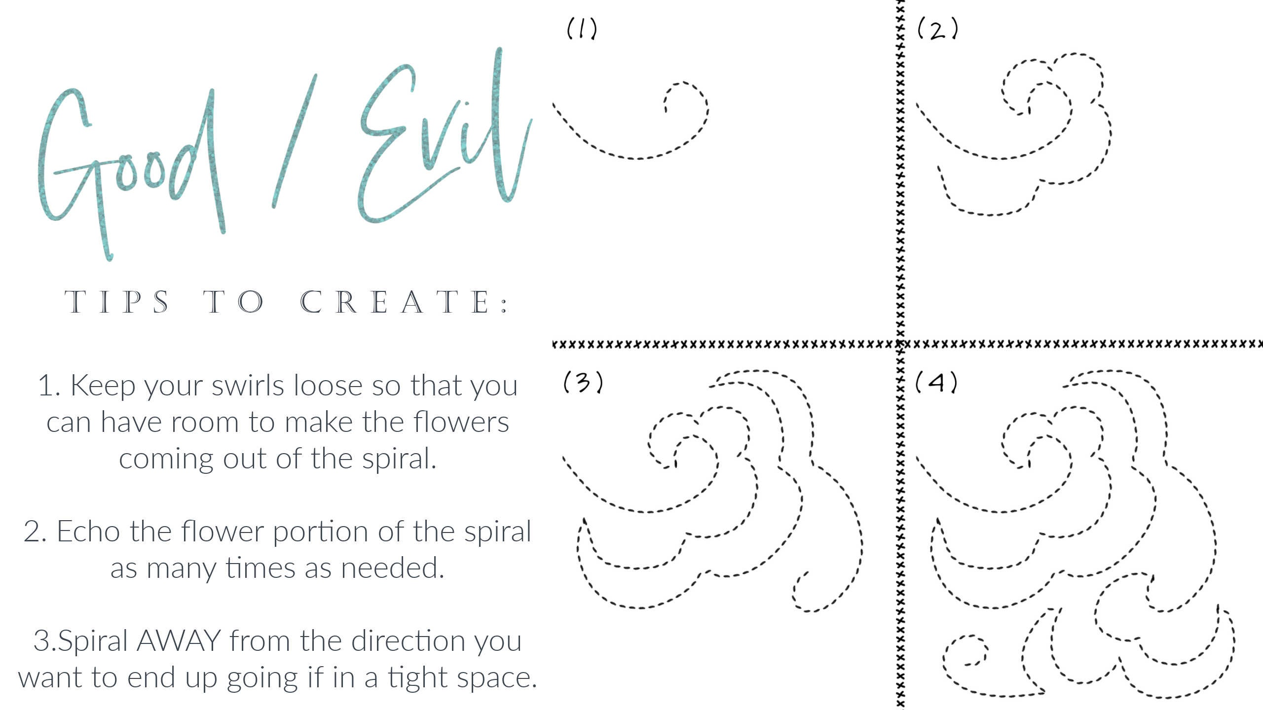 22 How to Free Motion Quilt Floral Spirals Tutorial Video