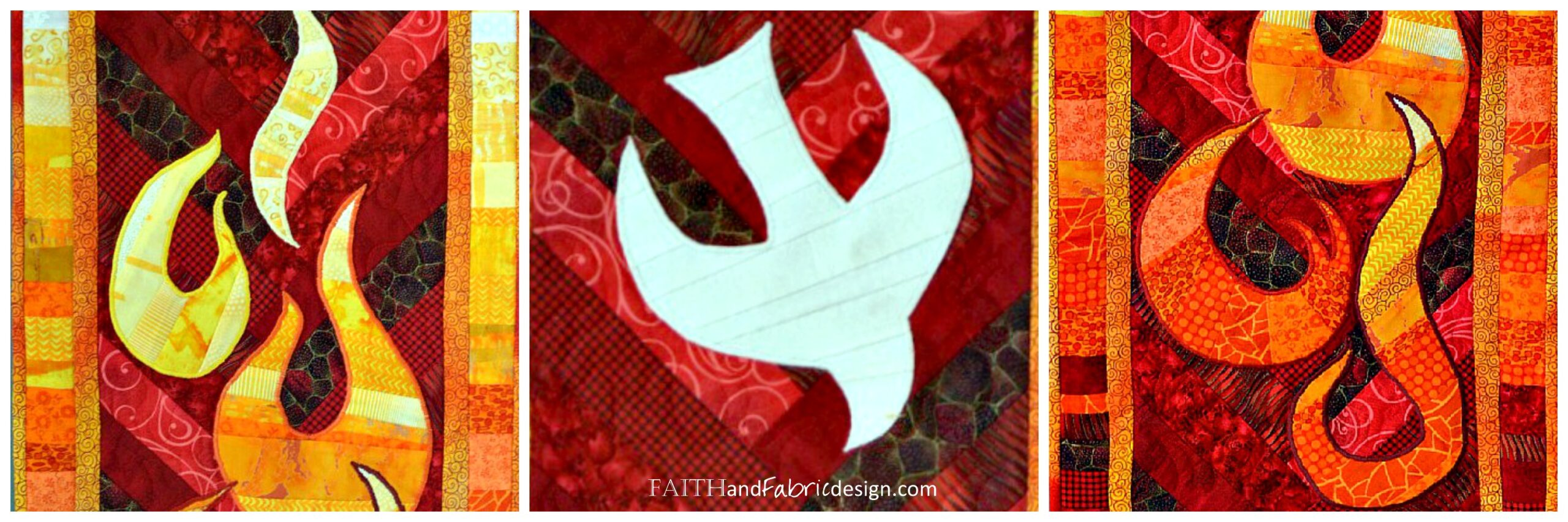 Faith and Fabric - Pentecost Quilt Pattern 2