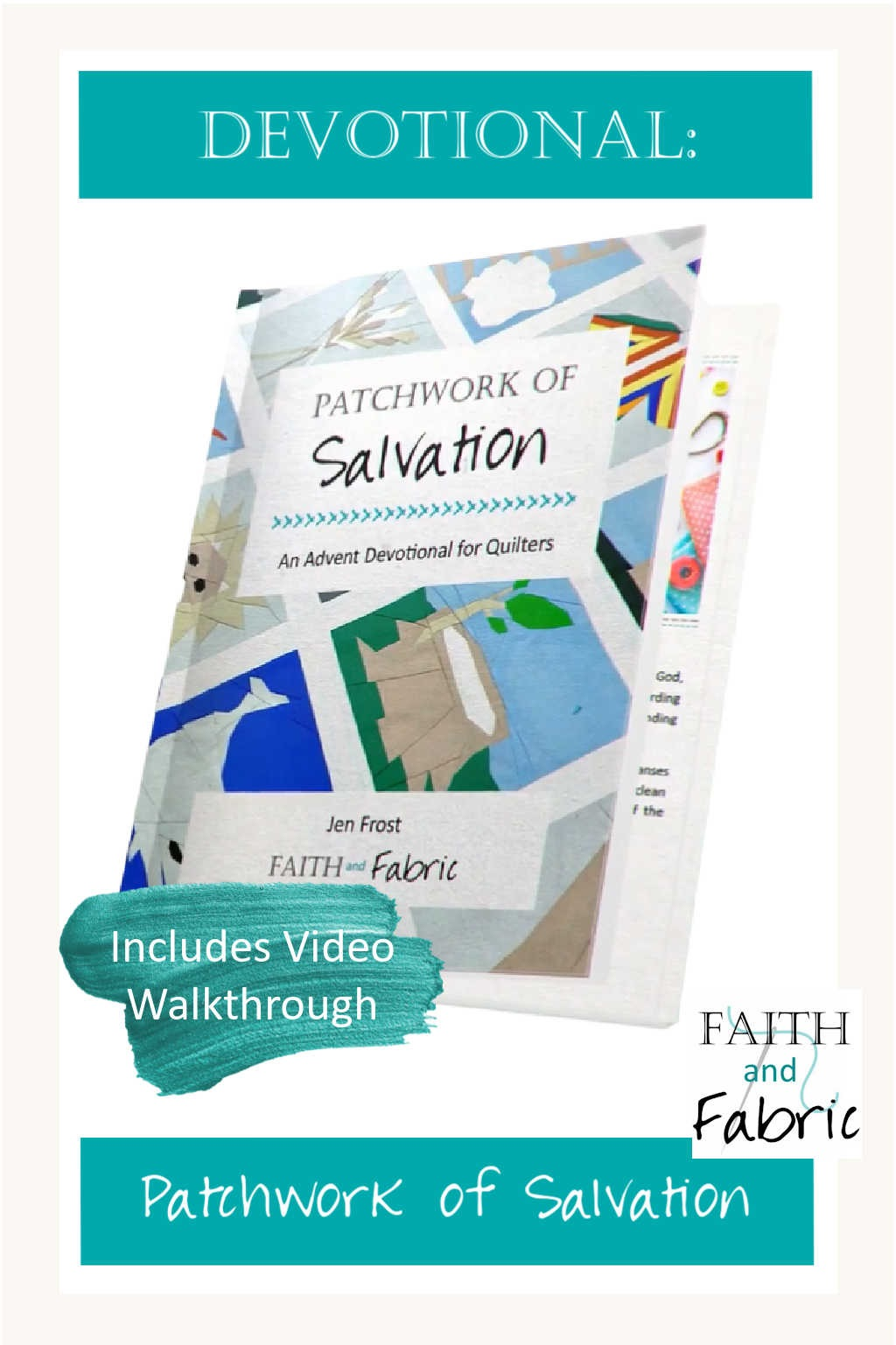 Patchwork of Salvation - An Advent Devotional for Quilters based on the Jesse Tree Quilt Pattern
