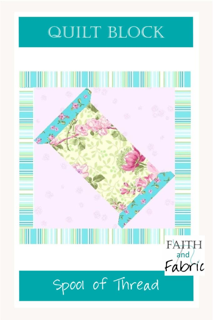 """Enjoy sewing this complimentary spool of thread quilt block, which finishes at 6""""x6""""!"""