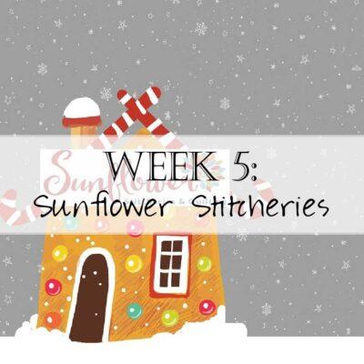 Holiday House Hop: Sunflower Stitcheries