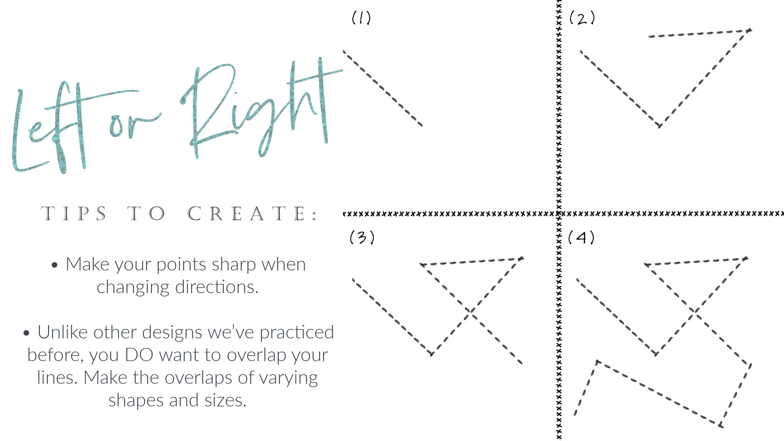 How to Free Motion Quilt Zig Zags: in this how-to video, we will teach you how to make zig zags (left or right), along with two key tips for makin them as lovely as possible!