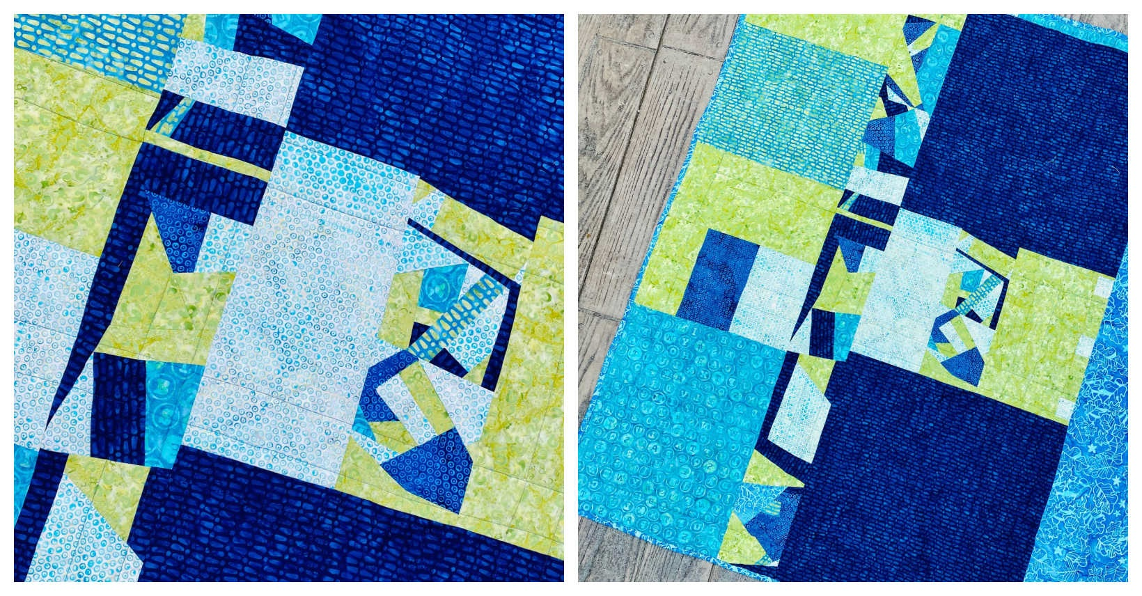 How to make an improv quilt block with scraps tutorial 3