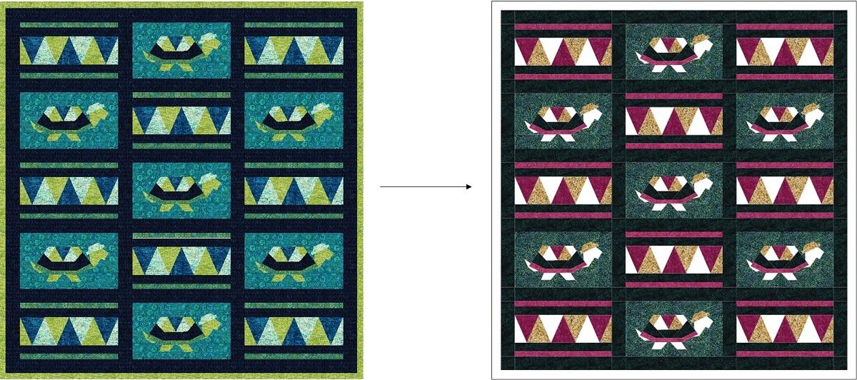 Peacock Plumes Fabric Island Batik