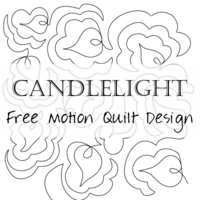 Free Motion Quilting: Candle Flames (candlelight)