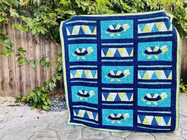 Tommy the Tortoise Turtle Quilt Pattern Peacock Plumes Block 4